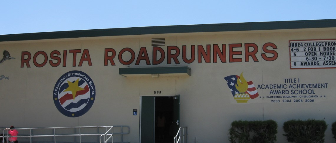 Rosita Elementary - home of the Roadrunners!