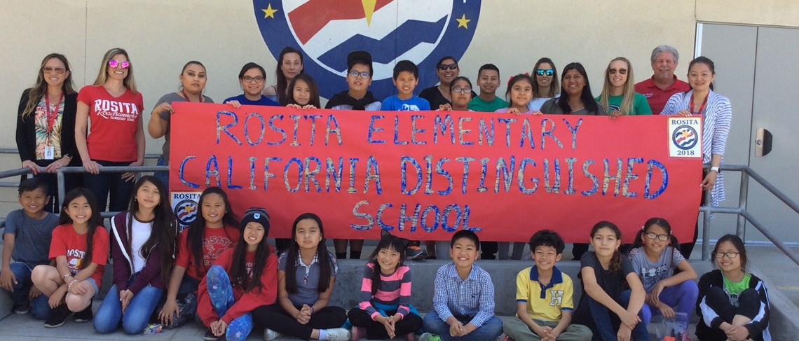 Rosita's staff and students celebrate being named a 2018 CA Distinguished School for high academic outcomes!