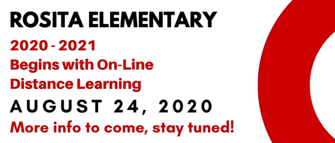 School Begins August 24, 2020 with On-Line Distance Learning