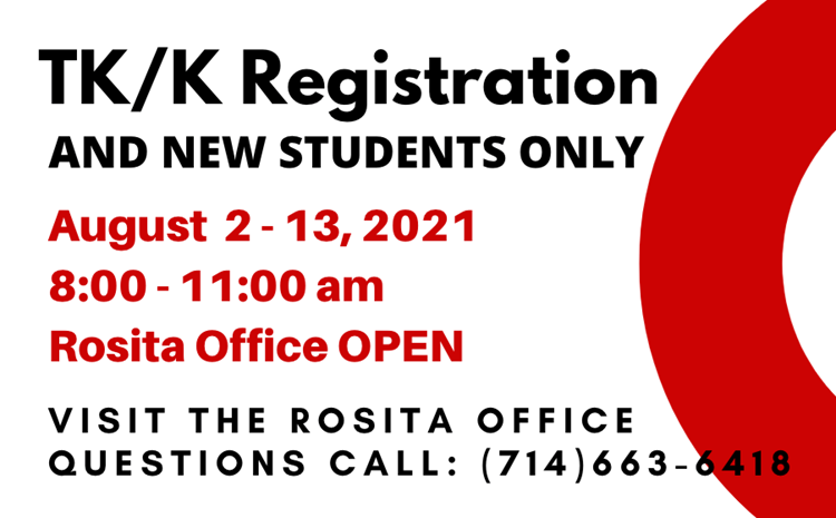 2021-2022 TK/K Registration - AUGUST 2 - 13, 2021 - article thumnail image