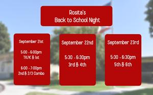 2021 Rosita Back to School Night - article thumnail image